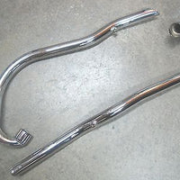 Exhaust Pipe Set 70-6370 70-6372 1967-1968 Slash Cut TR6C 650 Triumph pipes