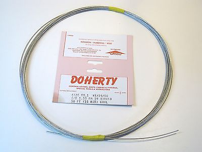 Doherty inner cable 19 strand 50 FT Coil UK Made Size #1 W1/19/50 OD 1.5MM
