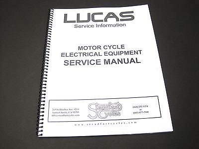 Lucas Service Manual motorcycle electrical equipment Triumph Norton BSA book