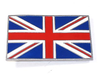 UNION JACK Jac Belt Buckle British flag motorcycle badge Nice Quality USA Made