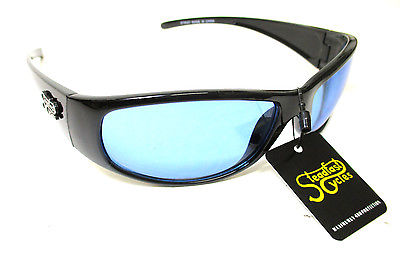 Steadfast Cycles sun glasses night riding blue lens lenses sunglasses eye wear