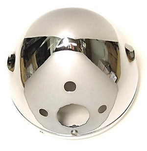 "99-9969 Triumph headlight shell 7"" chrome shell Made In England 1968 98 70"