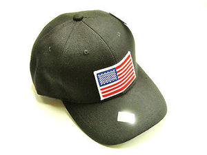 American Flag Hat baseball cap motorcycle patch black ballcap USA NEW