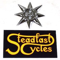 1 each 40-0231 BSA engine sidecover star emblem single
