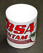BSA Mug 10oz coffee cup ceramic motorcycle logo Bantam Rooster UK Made