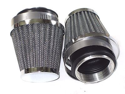 2 AIR FILTER universal cone pod clamp on for 932 930 928 Amal Triumph Norton BSA