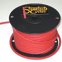 100' roll RED Packard spark plug wire 7mm inductive core silicone Auto Cycle