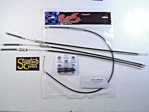 Barnett cable set for triumph bsa triple for PWK carb set T150 T160 A75 Trident
