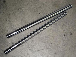 "97-3904 Fork tubes 650 500 Triumph 1968 69 70 33mm x 22"" tube set stanchion"