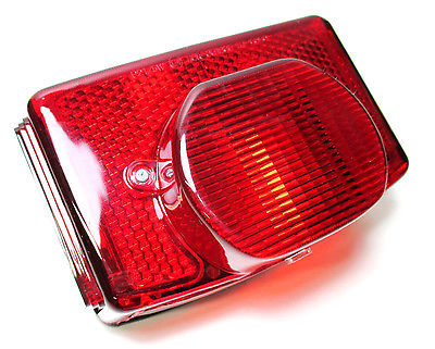 Triumph complete taillight assembly 1973 - 82  OIF T140 tail light lens complete