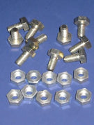 Triumph front & rear fender NUTS & domed BOLTS 10q 99-3517 set nut bolt DS57