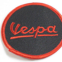Vespa Scooter red pn black Patch Made In England cloth embroidered badge