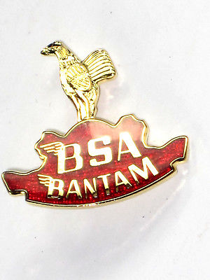 BSA Bantam lapel pin badge Made in England Classic British motorcycles