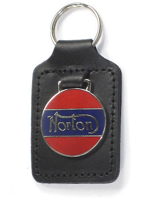 Norton key fob leather key holder motorcycle UK Made Commando Atlas chain