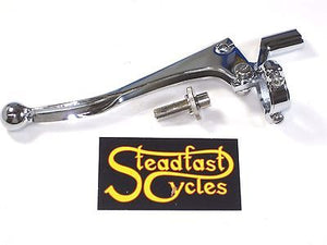 "1"" clutch lever assembly Triumph ball end left hand for 1 inch bars"