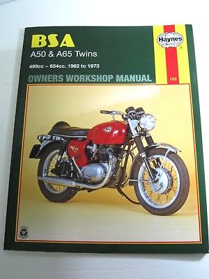 BSA A50 and A65 twins Haynes maintenance workshop manual 62-73 NEW book