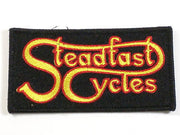 Steadfast Cycles logo embroidered patch Classic British motorcycles only