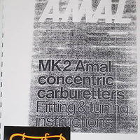 Amal MK2 concentric carburetter tuning instruction book