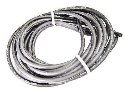 "3' piece Black Hose 1/4"" ID alcohol proof line motorcycle fuel oil gas tube"