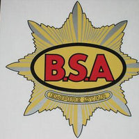 BSA Cycles side cover decal Clubman Empire Star vinyl