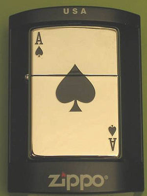 ACE OF SPADES Zippo Lighter Cafe Racer ton up Chrome lucky poker billy