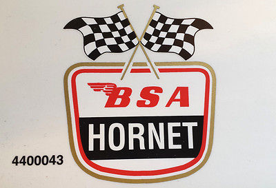 BSA motor Cycles Hornet tank top vinyl DECAL 650 A65 Classic british bike