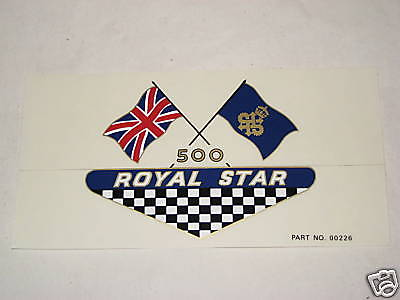 BSA Royal Star side cover vinyl decal motorcycle