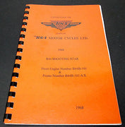 Replacement Parts Catalog manual mini book spares 1968 BSA B44 Shooting Star