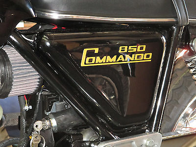 NORTON sidecover Diecut Gold decal 850 Commando peel and stick 06-5096 06-4014