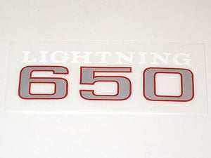 BSA lightning 650 decal peel and stick side cover Made in the UK