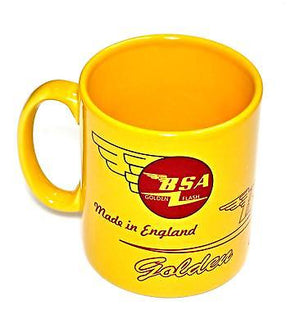 BSA Mug 10oz coffee cup ceramic motorcycle logo Golden Flash UK Made NEW