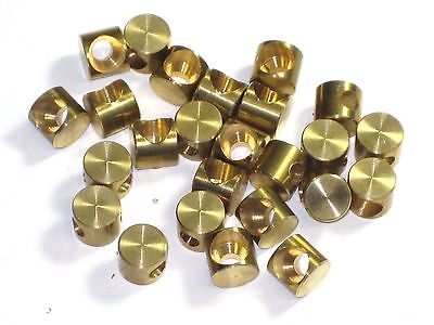 25 each clutch brake cable end fittings brass Triumph Norton BSA