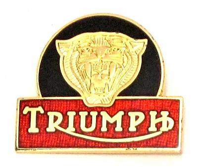 Triumph Tiger lapel pin made in England classic vintage cycle badge