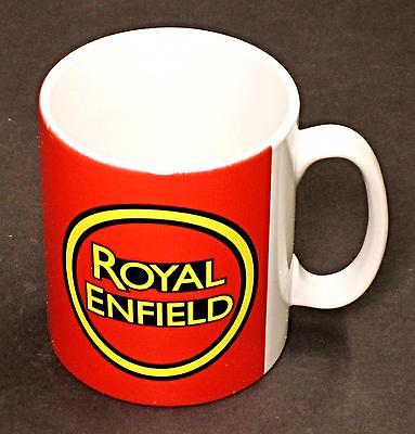 Royal Enfield Mug 10oz coffee cup ceramic motorcycle logo Red UK Made