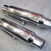 Classic motorcycle design shorty mufflers vintage style chopper bobber custom