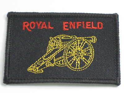 Royal Enfield Patch Made In England cloth embroidered badge