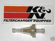 "K & N Small fuel gas filter 1/4"" sindered bronze motorcycle scooter atv"