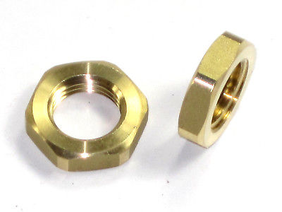 2 nuts Petcock thin brass nut pair 83-0006 Triumph Norton BSA locking nuts