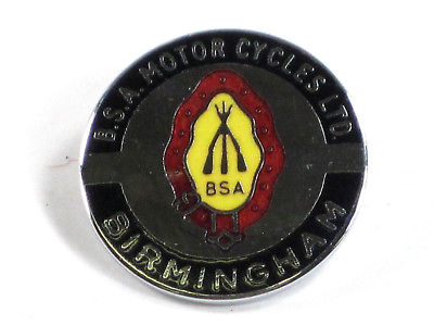 BSA Motorcycles LTD Birmningham lapel pin badge Made in England