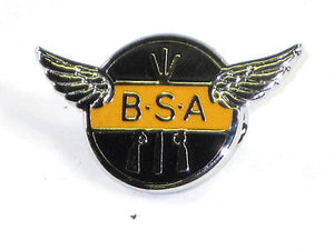 BSA Motorcycles piled arms lapel pin badge Made in England