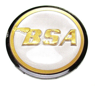 BSA Rocket 3 logo gas petrol tank top round center badge gold silver