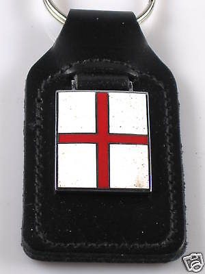 St George's red Cross key ring fob flag of England UK