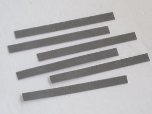 6 Flex files contact burnishing fine polish  .025 thick points file 320 grit