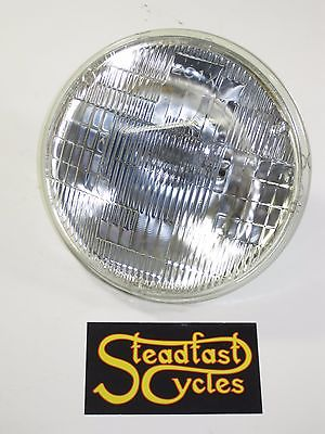 "5 3/4"" motorcycle headlight glass sealed halogen lens 12v Triumph BSA 37.5/60W"