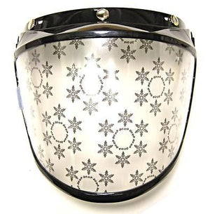 Anti Fog face shield for 3/4 motorcycle helmet 3 snap on Clear flip up