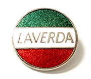 Laverda lapel pin Motorcycle scooter red green and white italian hat badge