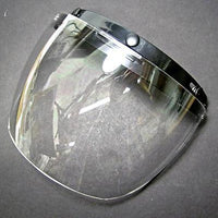 Face shield 3 snap flip up clear visor snap on shield tint 3/4 motorcycle helmet