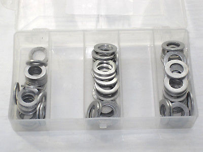 Drain plug washer assortment 75 piece 3 sizes motorcycle Auto assorted aluminum