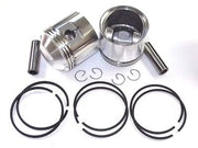 TRIUMPH unit 650 .020 over Piston set JCC pistons & Hastings rings 1963 - 72
