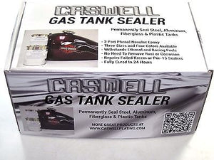 Caswell BATTLESHIP GREY Gas Tank Sealer repair kit motorcycles 10 gallon GRAY